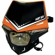 Ufo Stealth 12v Enduro Motor Bike Headlight With Led Side Lights - Orange/ Black
