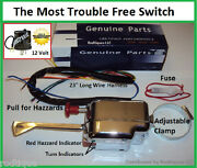 12 Volt Turn Signal Switch + Flasher + Fuse Clamps To Column 12v Older Fords
