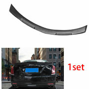 Fit For Cadillac Ct6 2016-2018 Abs Matte Black Rear Trunk Spoiler Wing Flap 1set