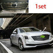 Fit For Cadillac Ct6 2016-2018 Chrome Front Center Mesh Grille Grill Cover Trim
