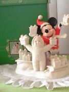 Disney Dept. 56 Snowbabies Mickey Mouse Look What We Have For Mickey