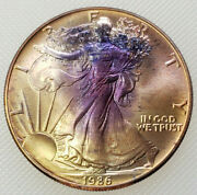 1986 American Silver Eagle - One Troy Ounce .999 Pure / Unc / Actual Coin T10