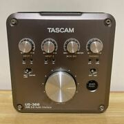Tascam Us-366 4-in/6-out Or 6-in/4-out Usb Audio Interface Used From Japan F/s