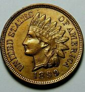 Usa 1899 Indian Head Penny Just As In Pictures Free Shipping Andreturn And53-853