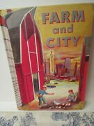 Vtg. 1950s Our Growing World Farm And City Elementary School Book