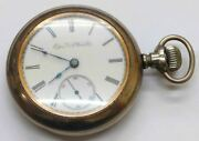 Vintage Elgin Natl. Watch Co Size 14s Lever-set Pocket Watch W/fob And Box - As Is