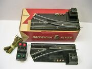 Pair 720a American Flyer Switch Tracks W/ Controller In Original Box [lot 4-a6]