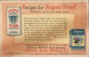 Advertising Hygeno Flour And Albers Rolled Oats-albers Bros. Milling Co. Vintage