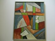 Ruth Shadburne Oil Painting Wpa Artist Cubist Cubism Modernism Abstract Listed