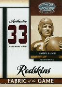 Sammy Baugh 2008 Leaf Certified Materials Fabric Of The Game Used Jersey 6/33