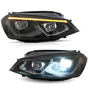 For 15-17 Golf Mk7 Full Led With Startup Animation Headlights Assembly Mk8 Style