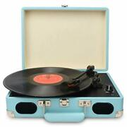 Vintage Turntable,3 Speed Vinyl Record Player With Built-in Stereo Speakers