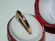 Scarce Fidelity Solid 22ct Gold Antique 1939 Band / Wedding Ring Lovely Example