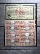 5000000 Marks German Bond With Coupons And Passco Certificate