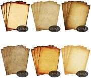 48 Pack Parchment Antique Colored Printed Paper, Stationery Vintage Letter Writt