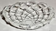 Vintage 16 Pin 6 Crystal Chandelier Bobeche Decorative Part Rare To Find