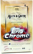 2020 Topps Allen And Ginter Chrome Baseball Hobby 12 Box Case Blowout Cards