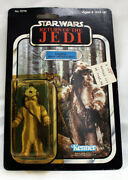 Vintage Star Wars Rotj Carded Logray Action Figure C7 Yellow Bubble