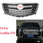For Cadillac Xt5 2016 2017-2020 Chrome Front Center Mesh Grille Grill Cover Trim