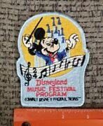 Vintage Mickey Mouse Disneyland Music Festival Program Sew Or Iron On Patch New