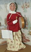 Byers Choice Williamsburg Woman With Drum And Hang Tag 2004