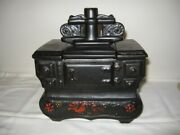 Vintage Mccoy Art Pottery Old Fashioned Black Stove Cookie Jar 9 Height Vgc