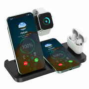 4in1 15w Qi Wireless Charger Stand Dock For Apple Watch Airpod Iphone 12 Pro Max