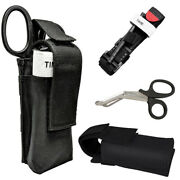 Tourniquet - Rapid One Hand Application Emergency+shear+ Molle Pouch For Injure
