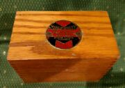 Vintage Moore's Brothers Co. Oak Dovetail Recipe Or Storage Box, Euc