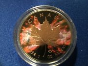 2016-1oz.candian Maple Leaf-butterfly Nebulacoin-with Ruthenium /rose Gold