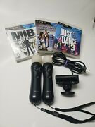 Sony Playstation 3 Ps3 Move Bundle Motion Controller, Camera, And Games