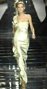 New Nwt Valentino Spring 2008 Bow Runway Long Maxi Silk Gown Dress It 42 / Us 6