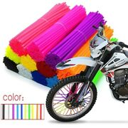 72pcs Motorcycle Wheel Spoked Protector Wraps Rims Skin Bicycle Trim Covers Pipe