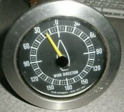 Telcor Instruments 20026 Wind Direction Gauge Only 5 Pin Plug 3 Chrome 180 Mph