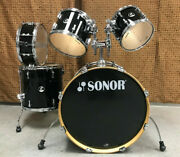 Sonor F2007 Stage 2 Series Shell Pack Drum Set Black