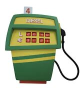Green And Yellow Comic Gas Pump Prop Life Size Statue