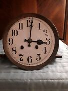 Gustav Becker P35 Clock Movement For Parts With Complete Face And Shelf
