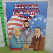 Meet The Presidents Coloring-book 1988 Abe Lincoln Biographies Election Day