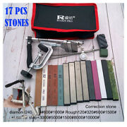 Metal Knife Sharpening Stone System New Ruixin Blade Grit Tool Angle Sharpener