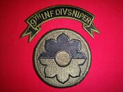 2 Vietnam War Patches 9th Inf Div Sniper Scroll + 9th Infantry Division Patch