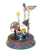 Dept 56 North Pole Woods Rudolph Star Of The Show 56928 New Free Shipping