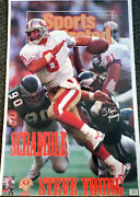Steve Young Scramble San Francisco 49ers 1993 Sports Illustrated 23x35 Poster