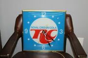 Vintage 1970and039s Rc Cola Royal Crown Cola Square Pam Clock