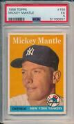 Mickey Mantle 1958 Topps 150 Psa 5 Centered Look