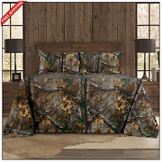 Realtree Xtra Cotton Bed Sheet Set Deep Pocket Camo Fitted Flat Sheets All Sizes