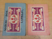 Over 200 Match Box Labels In 2 Books Id813