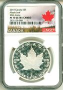 2018 Canada S5 Modified Maple Leaf 30th Anniversary Ngc Pf70 Ultra Cameo