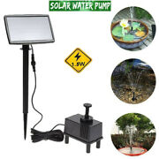 Solar Power Fountain Submersible Water Pump With Sponge Filter Panel Pond Pool