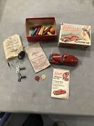 Nice Schuco 3000 Post Wwii Telesteering Car In Red With Box Instructions More