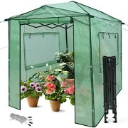 Greenhouse Portable Walk In Outdoor Plant For Gardening With Window Set 6x8x7
